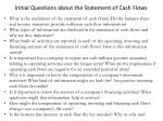 initial questions about the statement of cash flows