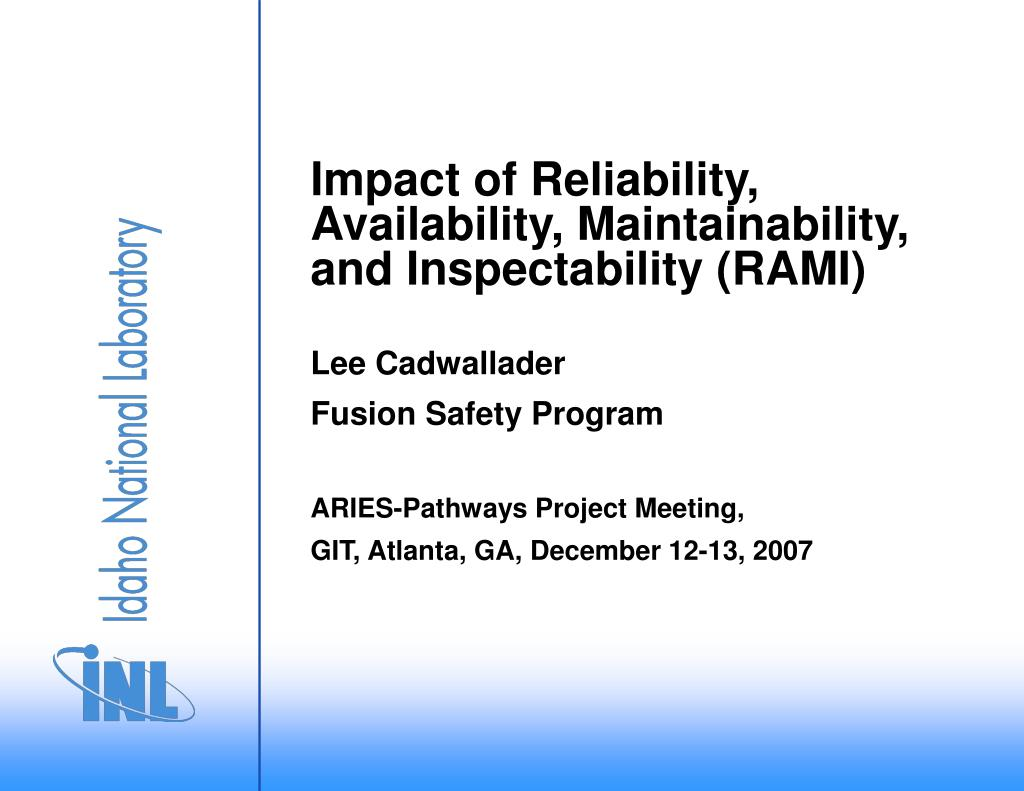 Ppt Impact Of Reliability Availability Maintainability And