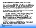 the iter tokamak cooling water system tcws a m
