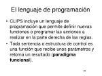 el lenguaje de programaci n
