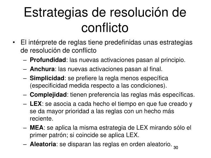 Estrategias de resolución de conflicto