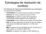 estrategias de resoluci n de conflicto