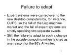 failure to adapt1