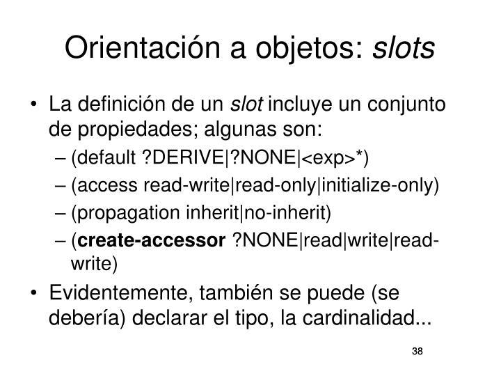 Orientación a objetos: