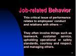 job related behavior