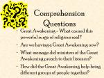 comprehension questions
