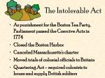 the intolerable act