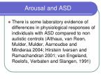 arousal and asd