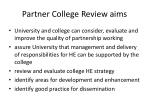 partner college review aims