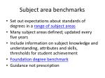 subject area benchmarks