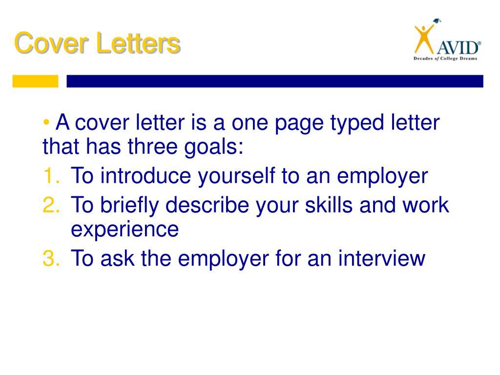 PPT - Preparing for the Job Market: Cover Letters, Job ...