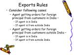 exports rules