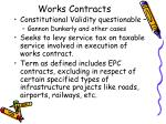works contracts