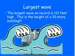 largest wave
