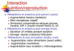 interaction nutrition reproduction