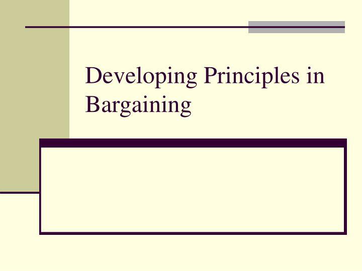 developing principles in bargaining n.