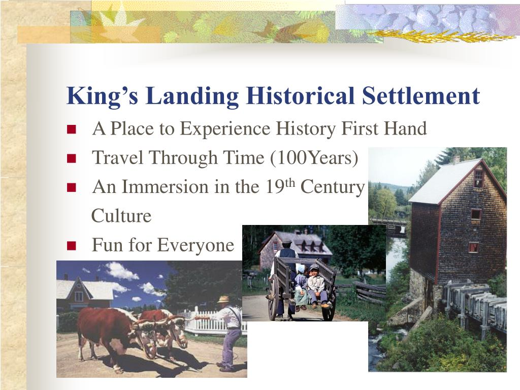 King's Landing Historical Settlement