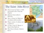 the saint john river