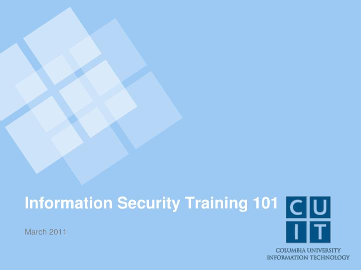 information security training 101 n.