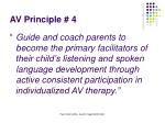 av principle 4