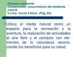 ciencia y ambiente componente conocimiento del ambiente natural ii ciclo inicial 4 a os p g 89