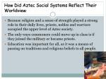 how did aztec social systems reflect their worldview