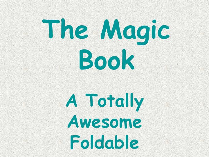 the magic book n.