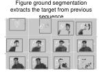 figure ground segmentation extracts the target from previous sequence