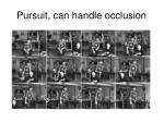 pursuit can handle occlusion