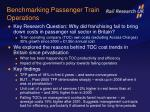 benchmarking passenger train operations