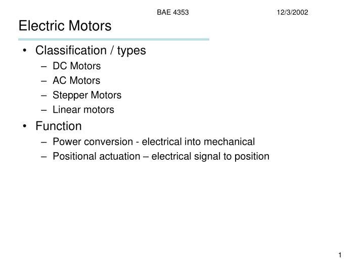 electric motors n.