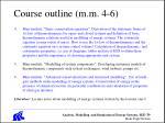 course outline m m 4 6