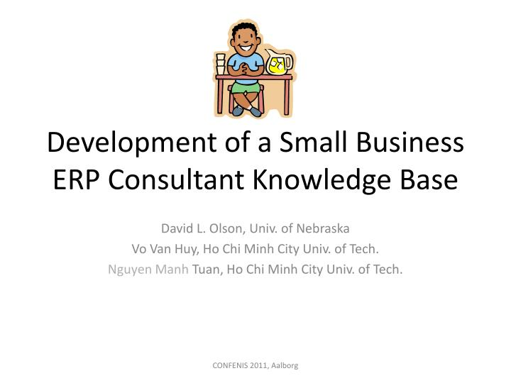 development of a small business erp consultant knowledge base n.