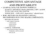 competitive advantage and profitability