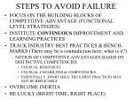 steps to avoid failure