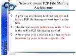 network aware p2p file sharing architecture
