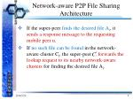 network aware p2p file sharing architecture3