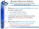 resource discovery scheme mobility aware file discovery control scheme publish subscribe query mode2
