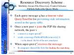 resource discovery scheme mobility aware file discovery control scheme publish subscribe query mode3