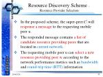 resource discovery scheme resource provider selection1