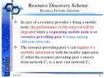 resource discovery scheme resource provider selection2