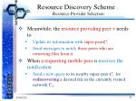 resource discovery scheme resource provider selection3