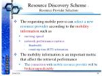 resource discovery scheme resource provider selection5