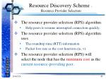 resource discovery scheme resource provider selection6