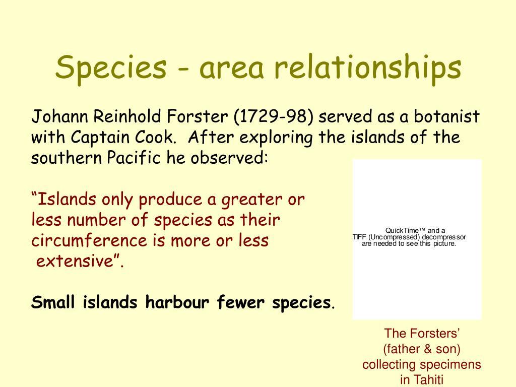 Species - area relationships