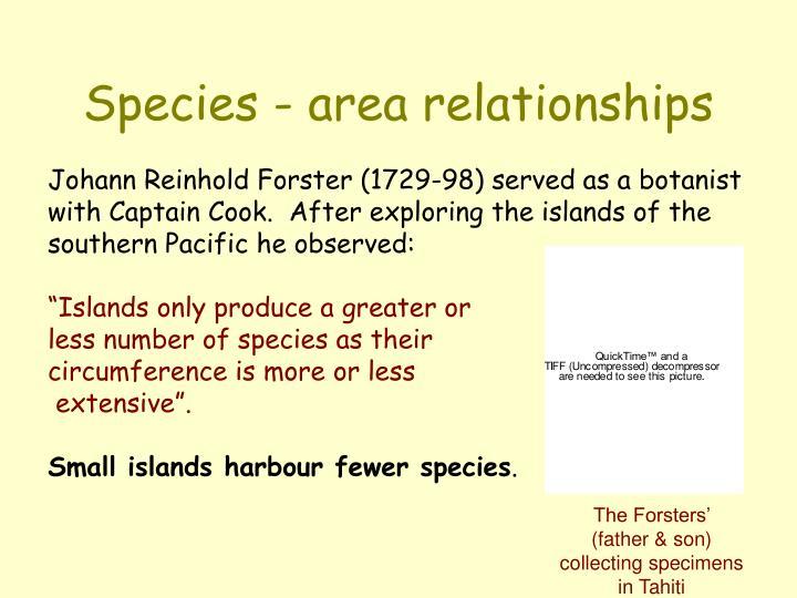 Species area relationships