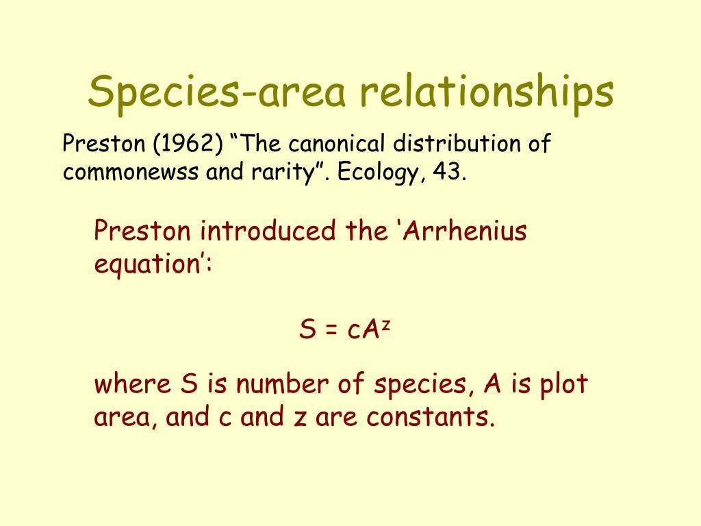 Species-area relationships