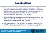 sampling times1
