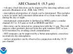 abi channel 6 8 5 m