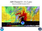 abi channel 8 11 2 m based on goes sounder ch 8